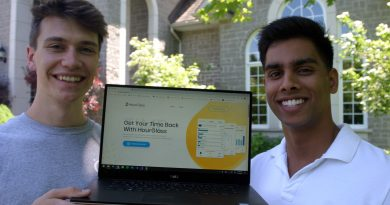 From left, Tobias Schlagenhaufer and Kashyap Achar have developed an app that is increasing the productivity of those working from home during the pandemic. Photo by Jake Davies