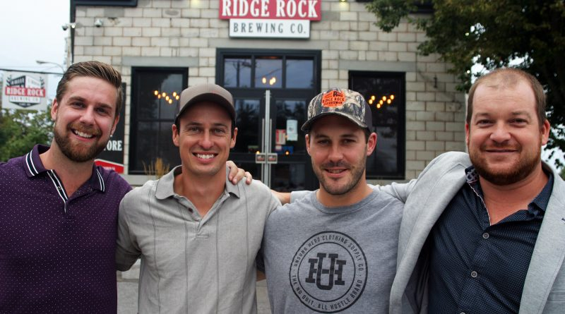 Ridge Rock Brewery owners Calvin de Haan, Jason LaLonde, Jake Sinclair and Ryan Grassie. Grassie says he's excited to open the patio, but challenges still lie ahead. Photo by Jake Davies