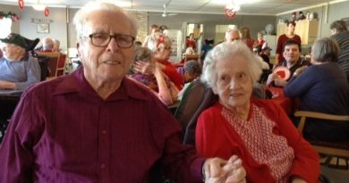 Emily Tripp, photographed with her husband of 73 years last Valentine's Day, passed away on June 13. courtesy Janice Tripp