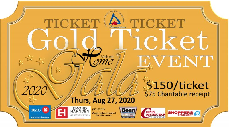 The AGH Home Gala golden ticket. Courtesy AGH