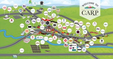 A map of the businesses and organization of the Village of Carp. Courtesy the Village of Carp BIA