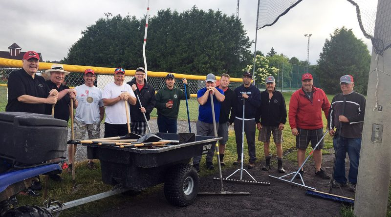 Around 15 to 20 different volunteers have donated time this spring and summer giving the Carp Fairgrounds ball diamonds an extreme makeover. Courtesy the U23 Canadian Fast Pitch Championship organizing committee