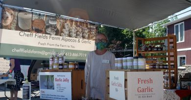 Catherine Cheff of Cheff Fields Farm say last Saturday was the busiest market of the year so far. Photo by Jake Davies