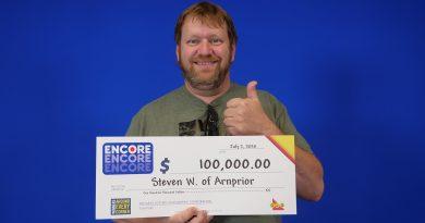 Arnprior's Steve Warren recently won $100,000 on Encore. Courtesy the OLG