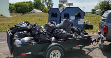 One of two trailer loads of garbage four village volunteers removed from a closed donation site in Kinburn. Courtesy Lisa Rath