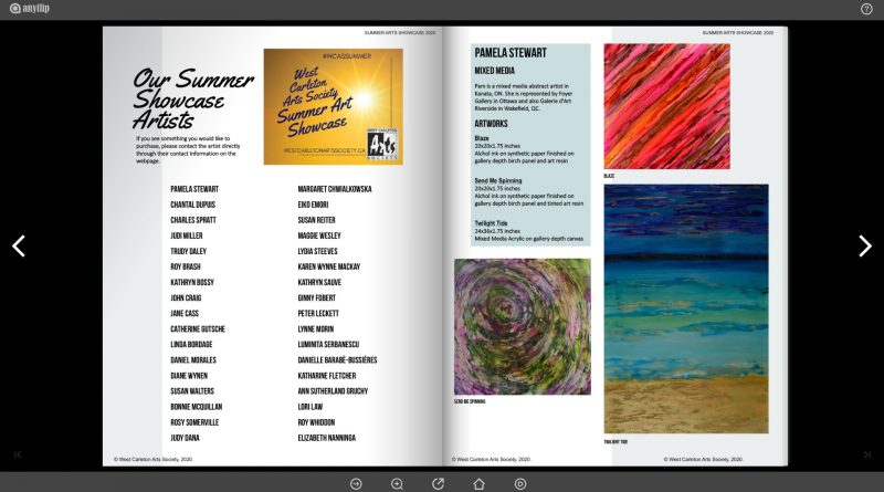 The first page of the WCAS Summer Showcase flip book. Screengrab