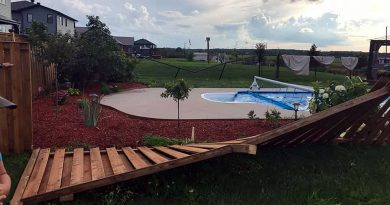 Last night's storm toppled hydro poles and caused some damage in West Carleton including knocking these fences down on Porcupine Road in Dunrobin. Photo by Emily Glossop-Nicholson