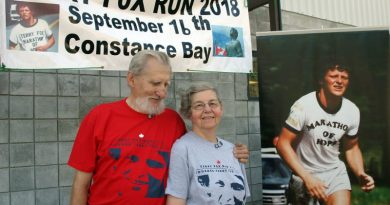 Bob Dupuis and Linda Cassidy at the 2018 Terry Fox Run
