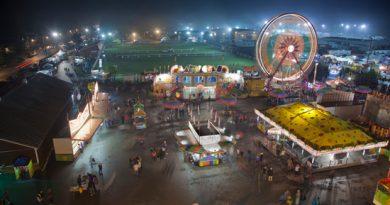 A night scene of the Carp Fair. Photo by Allan Joyner