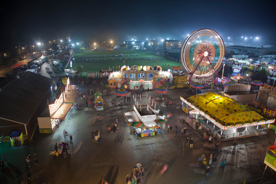 A night scene of the Carp Fair. Photo by Allan Joyner