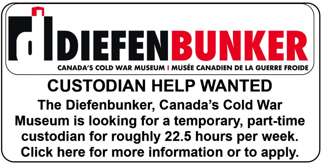 Diefenbunker custodian help wanted