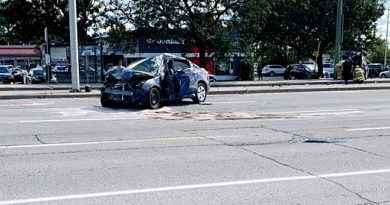 A car crash on Terry Fox Drive.
