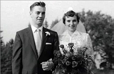 Bob and Greta Vance on their wedding day.