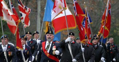 The Branch 616 Remembrance Day parade.