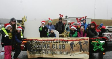 The West Carleton Skating Club float in last year's parade.