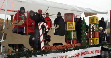 A photo of last year's Carp Agricultural Society float.