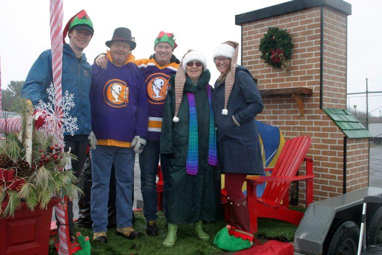 The Hunltey Community Association's Santa Claus Parade float.