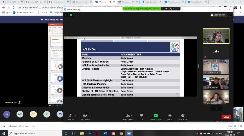 A screengrab of last night's HCA AGM.