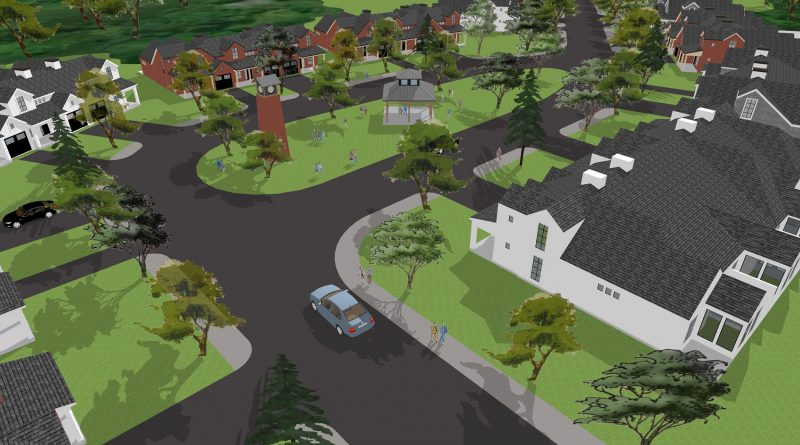 An artist conception of Huntley Hollow. Courtesy