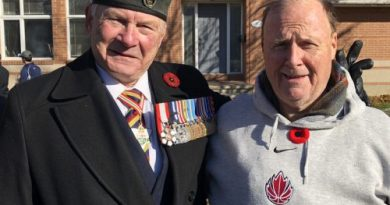 Retired General Lewis Mackenzie and Matthew Fisher.