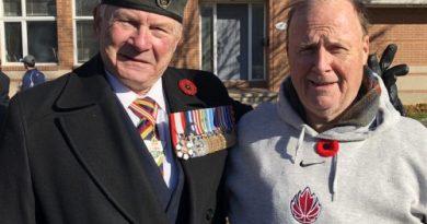 Retired General Lewis Mackenzie and Matthew Fisher.