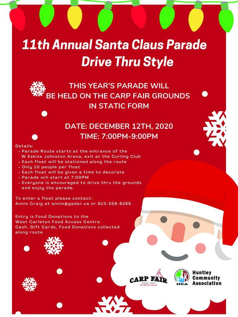 Carp Santa Claus Parade poster.