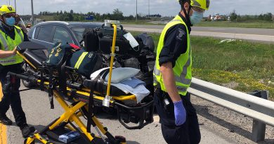 Ottawa paramedics respond to a motor vehicle collision.