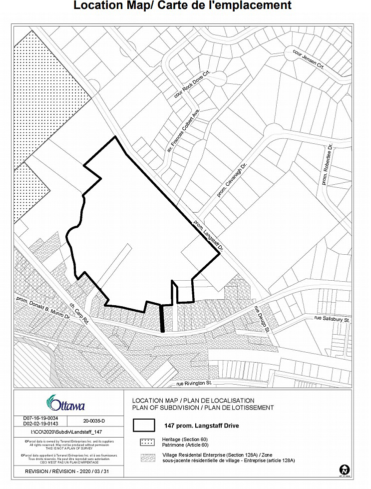 Site location of the development. Courtesy the City of Ottawa