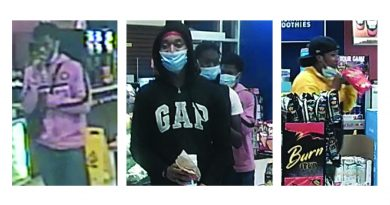 Photos of four potential witnesses.