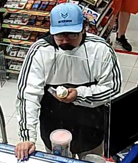 A photo of a suspect in a personal robbery.