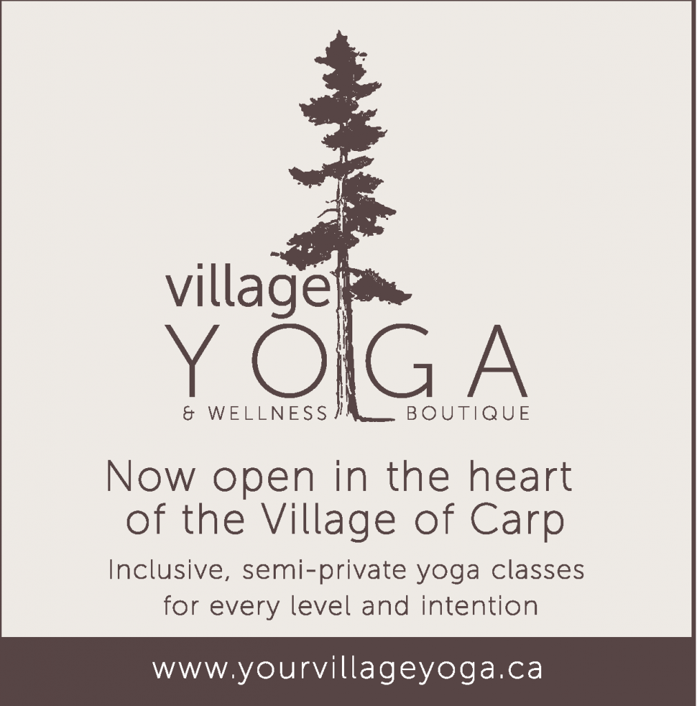 VIllage Yoga poster. More information at www.yourvillageyoga.ca