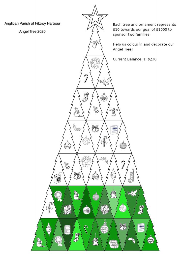 The parish virtual Angel Tree.