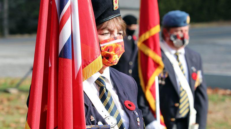 Branch 616 Colour Guard member Arlene Morrow at Constance Bay's Remembrance Day ceremony Nov. 7.