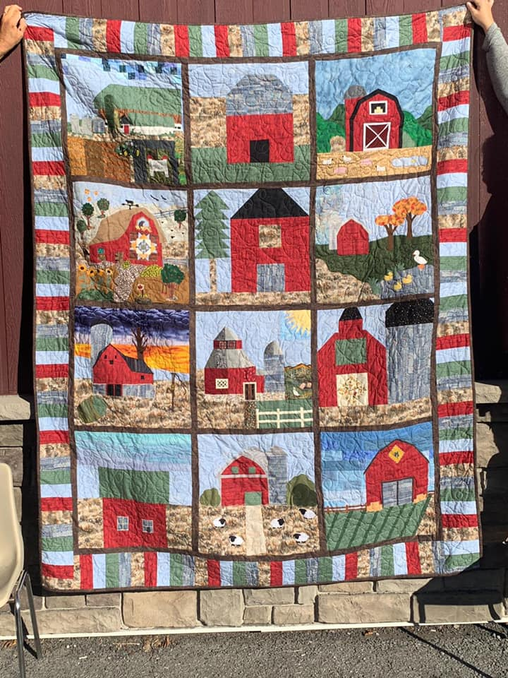 A photo of the 2019 Carp Fair Quilt Block Challenge quilt.
