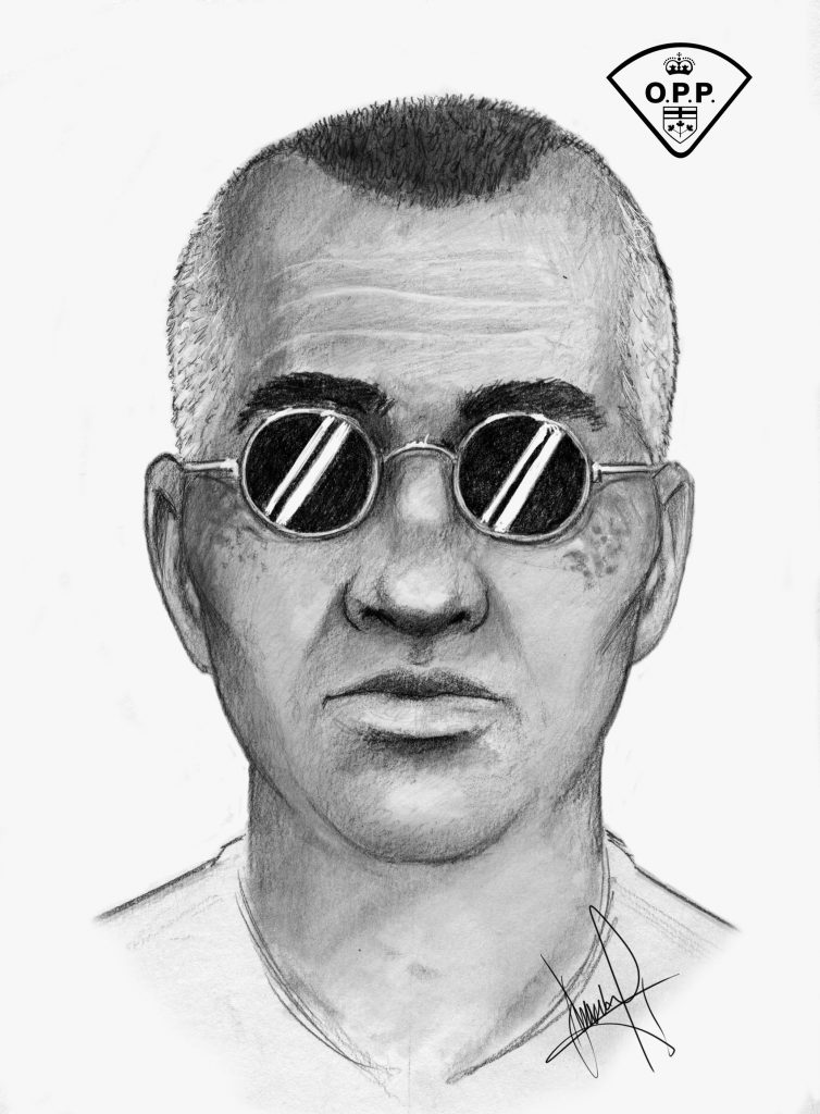 A composite sketch of a suspect wanted in an attempted March Road abduction.