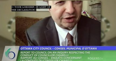 Coun. Rick Chiarelli recluses himself from yesterday's council meeting. Screengrab