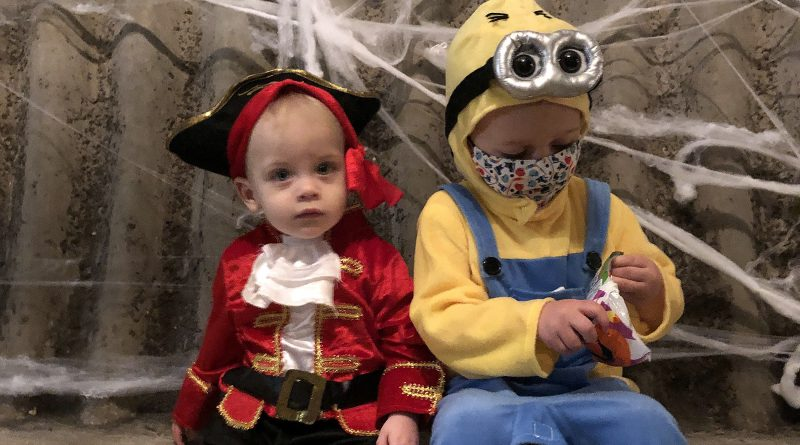 Charlie Langille (The Minion) and Nolan Langille (The Pirate).