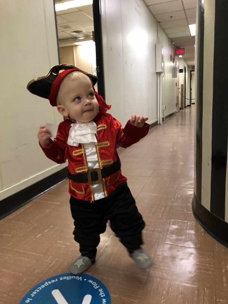Nolan Langille tours the Diefenbunker dressed as a pirate.