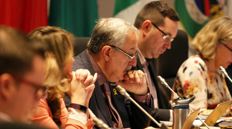 Coun. Eli El=Chantiry at a council meeting.