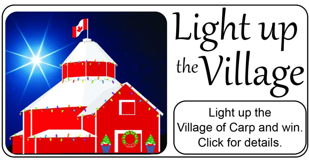 Carp BIA Light up the Village ad.