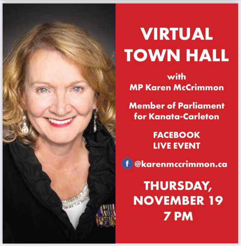 A poster for Karen McCrimmon's Nov. 19 town hall.