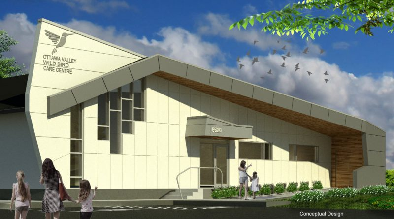 An artist's rendition of the proposed Ottawa Valley Wild Bird Care Centre. Courtesy the OVWBCC