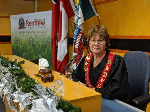 A photo of Renfrew County Warden Debbie Robinson.