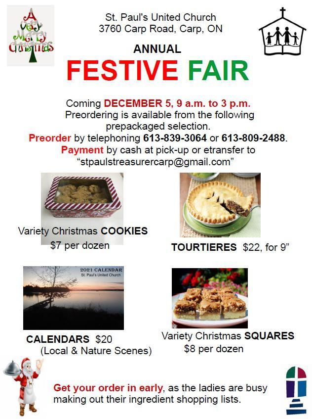 St. Paul's Church Festive Fair poster