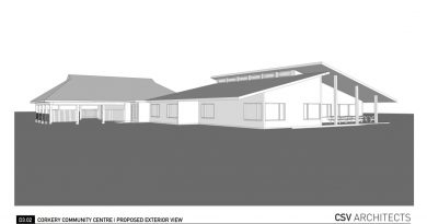 An image of the Corkery Community Centre renovation concept plans.