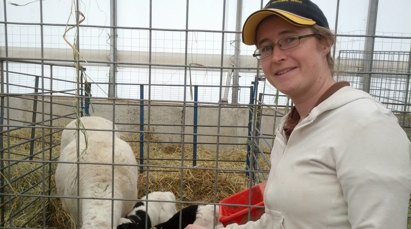 A photo of Katie Ward at her farm.