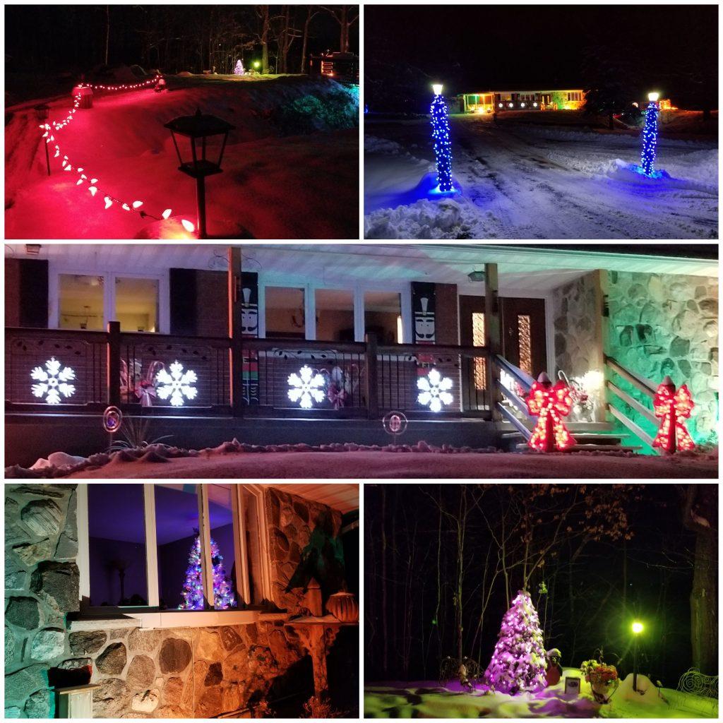 Natalie and Robert Roy's Christmas lights.