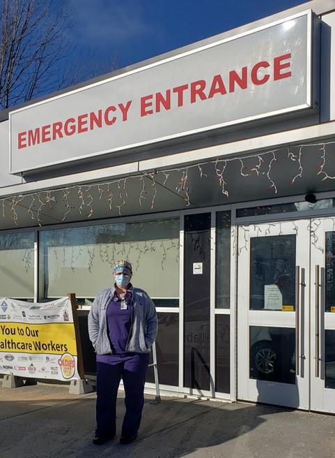 Nurse Nicki Watkins outside the Almonte hospital.