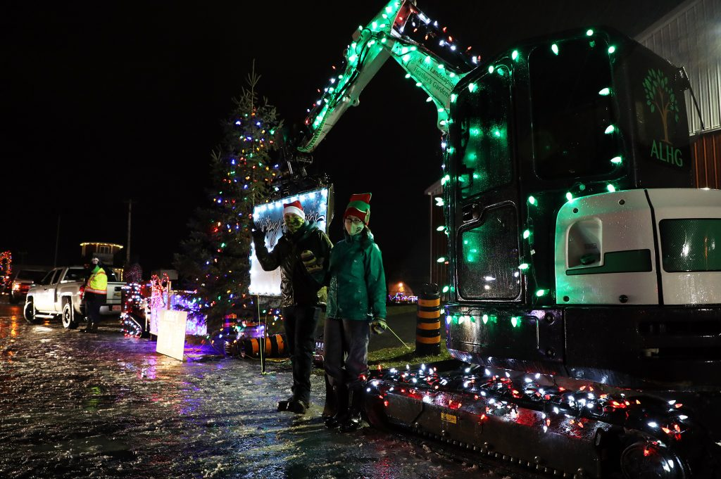 Alan's Landscaping and Heather's Garden were one of several local businesses taking part in the parade.