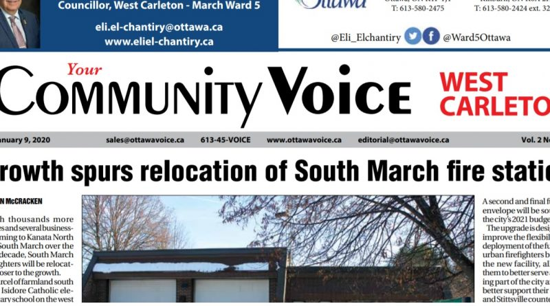 A photo of the front page of the Community Voice.